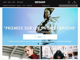 Def Shop, vente en ligne de produits Streetwear