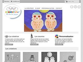 Zouzoutopia : La déco des zouzous, tableaux bébé enfant