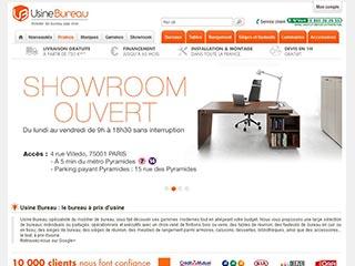 Usine Bureau, boutique spécialiste du mobilier pour bureau