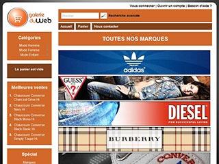 Galerie du Web, les boutiques des grandes marques