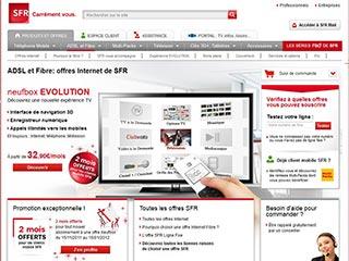 Neufbox de SFR, abonnement forfait adsl haut débit