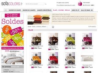 Sofacolors, la boutique en ligne pour habiller sa maison
