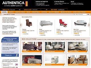 Authentica, vente en ligne de canapés cuir ou tissus