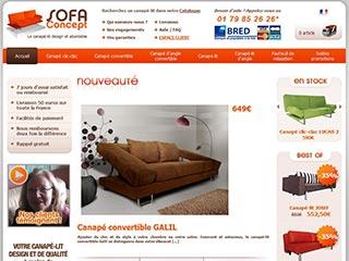 SofaConcept, vente de canapé et canapé convertible