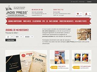 Jadis Press, vente en ligne de presse ancienne