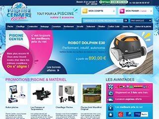 Piscine Center: vente en ligne de piscine et robot piscine