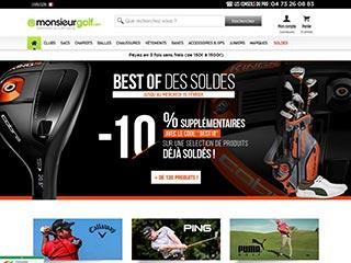 Monsieur Golf, le Numéro 1 de la vente d'articles de golf