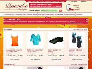 Boutique Lysandre, vente en ligne de vêtements de danse