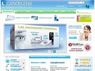 Candelens, renouvellement de lentilles de contact en ligne